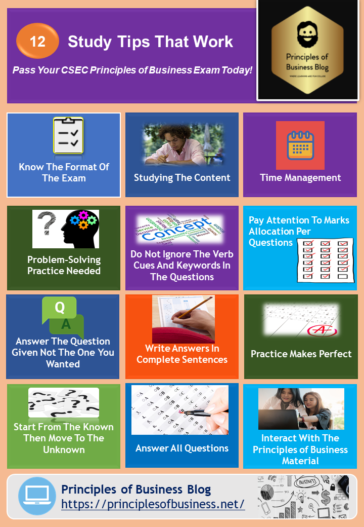 12 study tips how to study well pob syllabus infographics